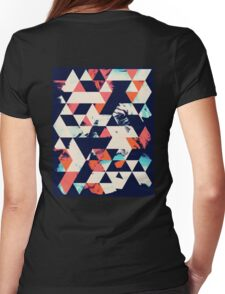 Geometric Paint Triangles Womens Fitted T-Shirt