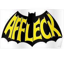 """'BATMAN v SUPERMAN' Ben Affleck """"Batfleck"""" Logo Poster"""