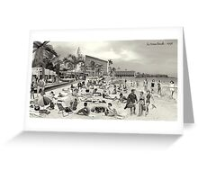 La Verne Beach - 1958 Greeting Card
