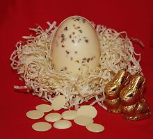 White Chocolate Egg and Buttons by AnnDixon