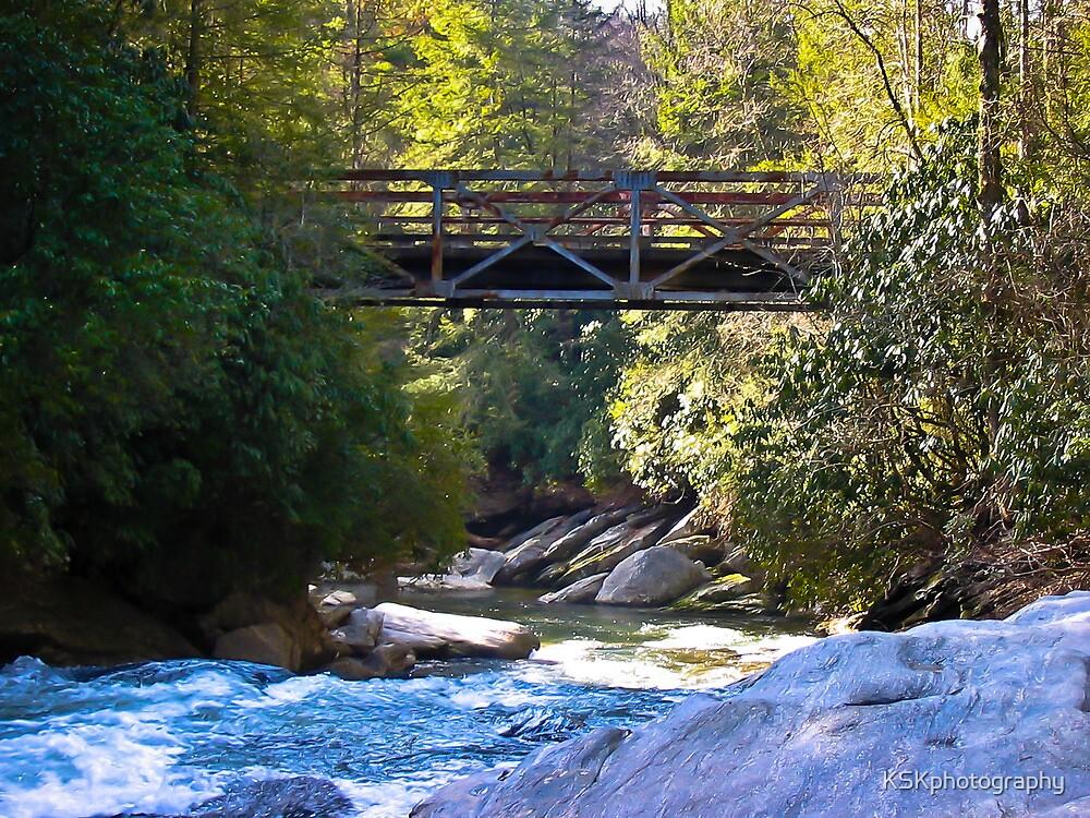 Iron Bridge Highlands North Carolina by KSKphotography