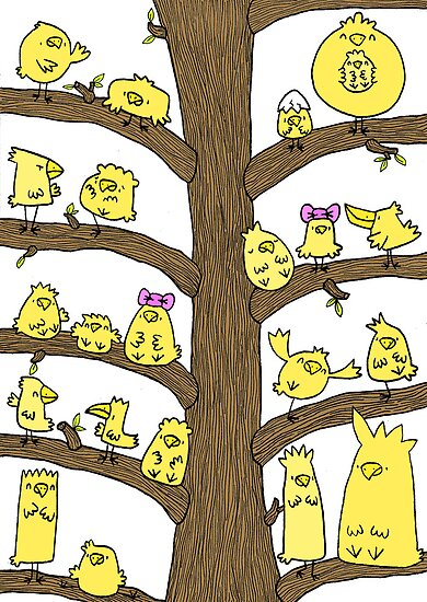 Tweety Bird Tree by ShakeyIllustra