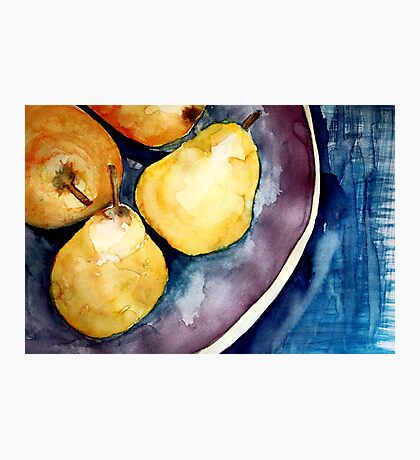 pears in a bowl Photographic Print