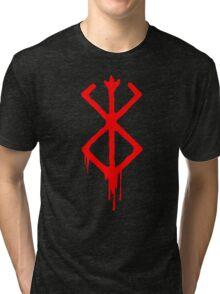Berserk Sacrifice Emblem with blood Tri-blend T-Shirt