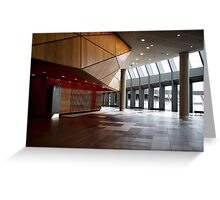 Melbourne Convection Center Interior 2 Greeting Card