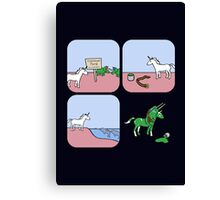 Unicorn and Narwhals as Triceratops - story Canvas Print