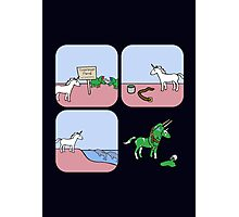 Unicorn and Narwhals as Triceratops - story Photographic Print