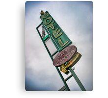 Vintage Motel Sign Metal Print