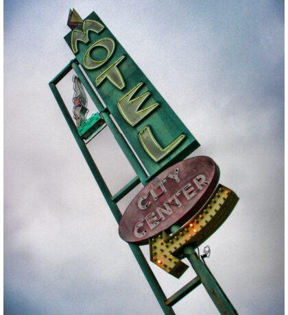 Vintage Motel Sign Sticker