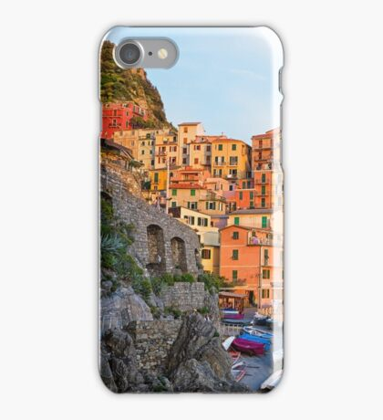 Manarola village Cinque terre Italy. iPhone Case/Skin