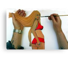 Touch up Canvas Print