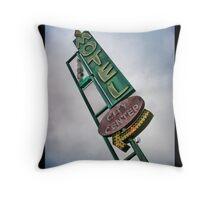 Vintage Motel Sign Throw Pillow