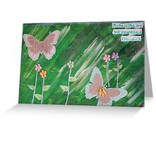 Butterfly Card Greeting Card