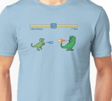 Dinosaur Fighter Game - Velociraptor vs T-Rex Unisex T-Shirt