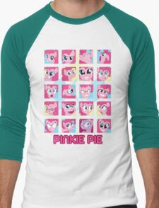 The Many Faces of Pinkie Pie Men's Baseball ¾ T-Shirt