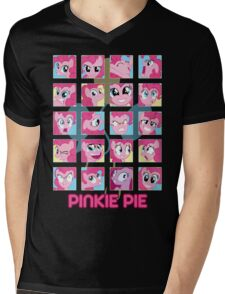 The Many Faces of Pinkie Pie Mens V-Neck T-Shirt