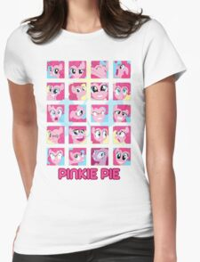 The Many Faces of Pinkie Pie Womens Fitted T-Shirt