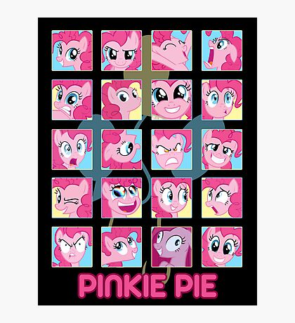 The Many Faces of Pinkie Pie Photographic Print