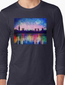 London in blue  Long Sleeve T-Shirt