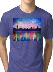 London in blue  Tri-blend T-Shirt