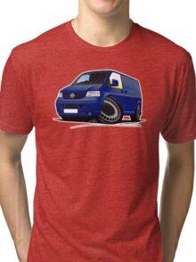 VW T5 Transporter Van Indian Blue Tri-blend T-Shirt