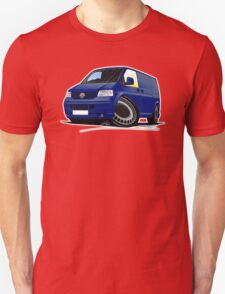 VW T5 Transporter Van Indian Blue T-Shirt