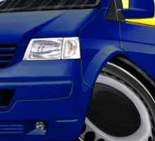 VW T5 Transporter Van Indian Blue Sticker