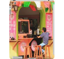 Taco Shop Mexico Street Scene  iPad Case/Skin