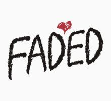 Faded <3 (Black) by Faded Fabrics