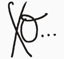 Handwritten XO (Black) by Faded Fabrics