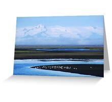 Iceland, Vatnajokull glacier landscape Greeting Card