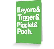 Eeyore&Tigger&Pigglet&Pooh Greeting Card