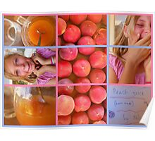 Peach Juice  (home made) by Abbey.J Poster
