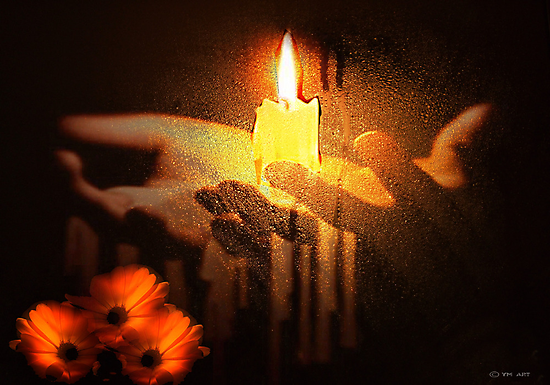 LIGHT A CANDLE by Yvon van der Wijk