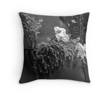 Orchid outdoor wall hanging Throw Pillow