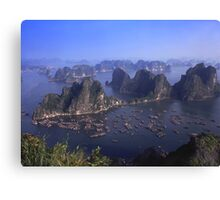 Vietnam Ha Long bay aerial view Canvas Print