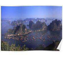 Vietnam Ha Long bay aerial view Poster