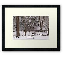 A Cold Place To Sit Framed Print