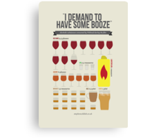 I demand to have some booze! Canvas Print