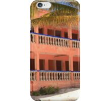 Old Pink Tropical Hotel on the Beach  iPhone Case/Skin