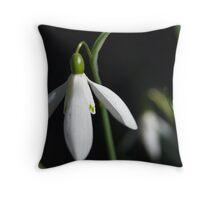 Snow Drop #1 Throw Pillow