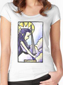 Queen of Swords Women's Fitted Scoop T-Shirt