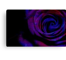 Close Up Of A Rose - Digitally Manipulated Photography Canvas Print