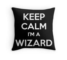 Keep Calm i'm a Wizard Throw Pillow