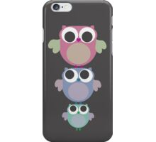 three owls balancing act iPhone Case/Skin