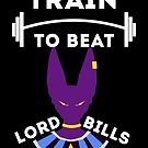 Train to beat Lord Bills| White on black by dragonballsuper