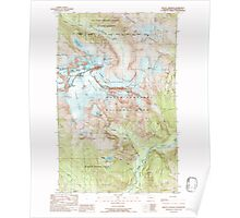 USGS Topo Map Washington State WA Mount Shuksan 242535 1989 24000 Poster