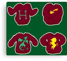 Harry Potter Christmas Sweaters Canvas Print
