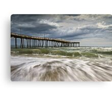 Outer Banks NC Avon Pier Cape Hatteras - Fortitude Canvas Print