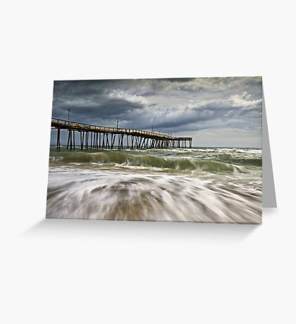 Outer Banks NC Avon Pier Cape Hatteras - Fortitude Greeting Card